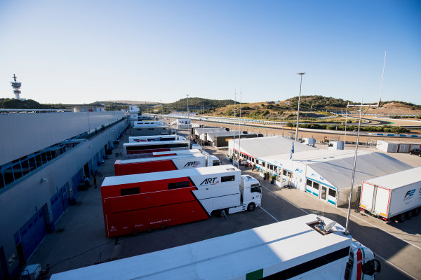 2017 FIA Formula 2 Round 10. Circuito de Jerez, Jerez, Spain. Thursday 5 October 2017. A view of the paddock. Photo: Zak Mauger/FIA Formula 2. ref: Digital Image _56I3771
