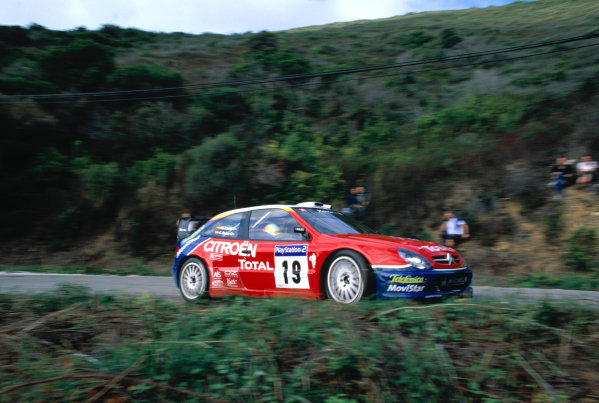 2003 World Rally ChampionshipTour De Corsica. 15th - 19th October 2003.Carlos Sainz/Marc Marti (Citreon Xsara WRC),action.World Copyright: McKlien/ LAT Photographicref: 35mm Corsica 09