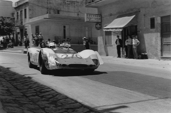 Little Madonie Circuit, Sicily, Italy. 4th May 1969. Vic Elford / Umberto Maglioli (Porsche 908/2), 2nd position, action. World Copyright : LAT Photographic.Ref: 2441 / 31