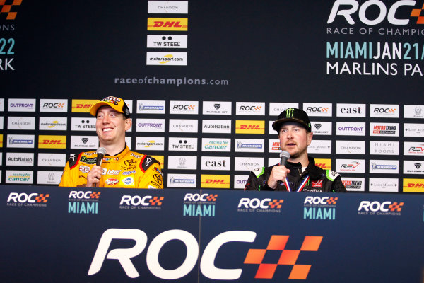 2017 Race of Champions Miami, Florida, USA Sunday 22 January 2017 Press Conference with Kyle Busch and Kurt Busch World Copyright: Alexander Trienitz/LAT Photographic ref: Digital Image 2017-RoC-MIA-AT2-3287