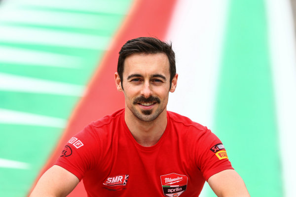 2017 Superbike World Championship - Round 5 Imola, Italy. Thursday 11 May 2017 Eugene Laverty, Milwaukee Aprilia World Superbike Team World Copyright: Gold and Goose Photography/LAT Images ref: Digital Image 669318