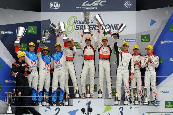 2017 World Endurance Championship, Silverstone, UK. 14th-16th April 2017, P2 Podium  World Copyright. JEP/LAT Photographic