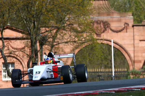 2017 BRDC British F3 Championship, Oulton Park, Cheshire. 15th - 187th April 2017. Aaron Di Comberti (GBR) Lanan Racing BRDC F3. World Copyright: JEP/LAT Images.
