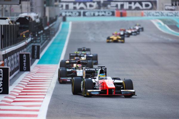 2017 FIA Formula 2 Round 11. Yas Marina Circuit, Abu Dhabi, United Arab Emirates. Sunday 26 November 2017. Sergio Sette Camara (BRA, MP Motorsport).  Photo: Sam Bloxham/FIA Formula 2. ref: Digital Image _W6I4021