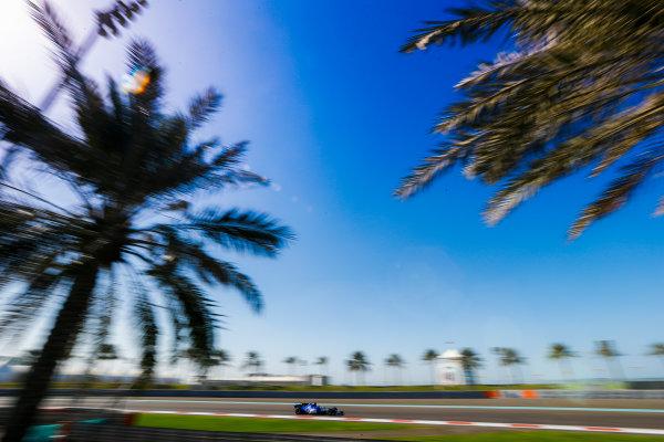 Yas Marina Circuit, Abu Dhabi, United Arab Emirates. Wednesday 29 November 2017. Charles Leclerc, Sauber C36 Ferrari. World Copyright: Joe Portlock/LAT Images  ref: Digital Image _R3I4545