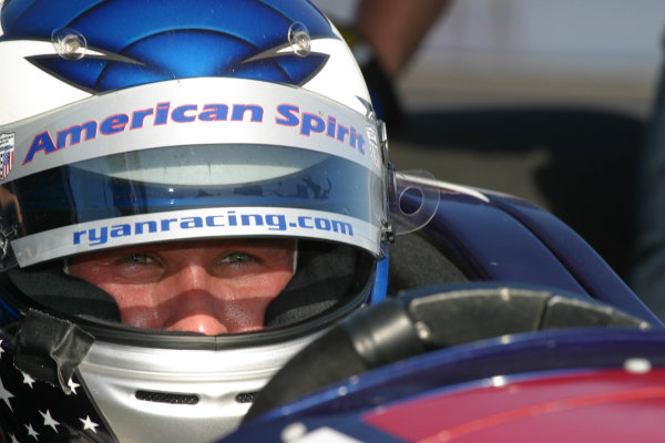 2003 ChampCar St Petersburg,21-23 February 2003, St Petersburg, Florida, USAPhoto: Mike Weston/LATRyan Hunter-Reay sits in his office during qualifying