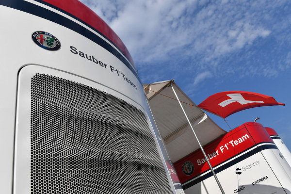 Alfa Romeo Sauber F1 Team celebrate Swiss National Day