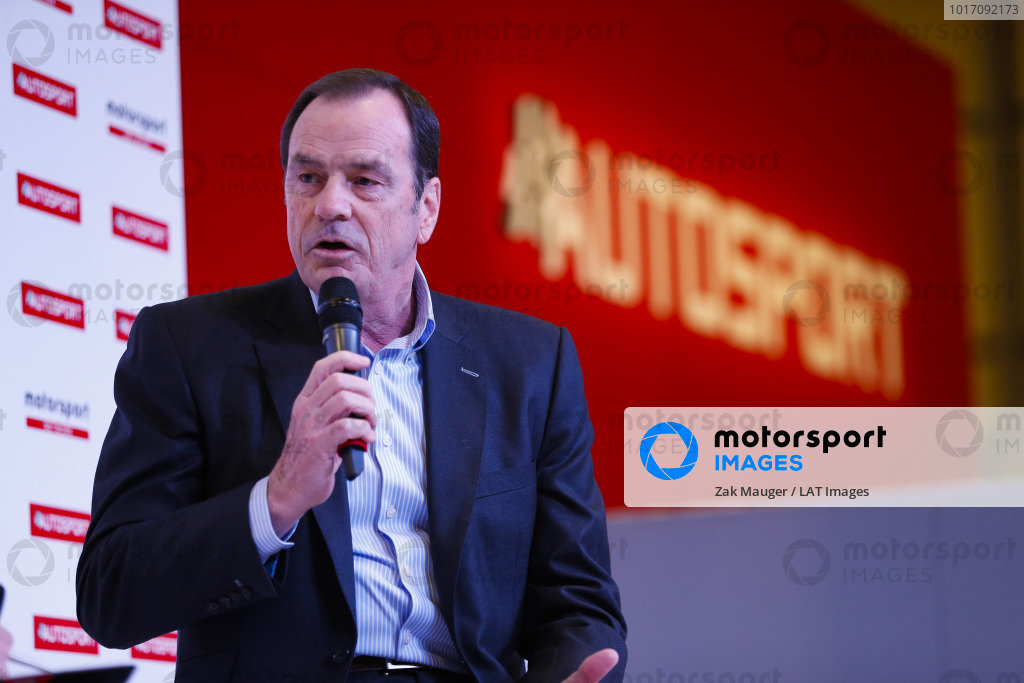 Alan Gow on the Autosport Stage.