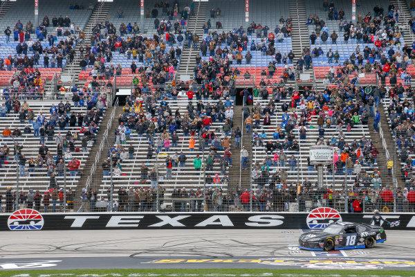 #18: Kyle Busch, Joe Gibbs Racing, Toyota Supra iK9 celebration