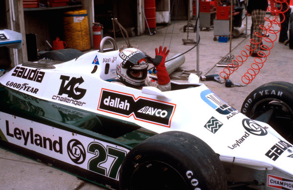 1980 British Grand Prix.Brands Hatch, England.11-13 July 1980.Alan Jones (Williams FW07B Ford) 1st position.Ref-80 GB 02.World Copyright - LAT Photographic