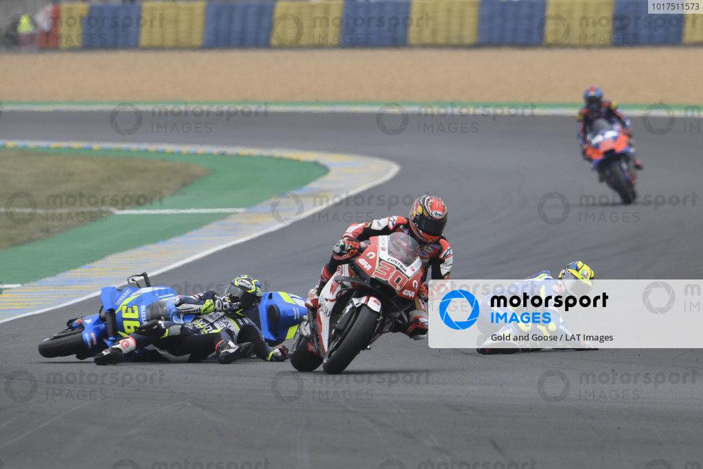 Joan Mir, Team Suzuki MotoGP, Karel Abraham, Avintia Racing crash.
