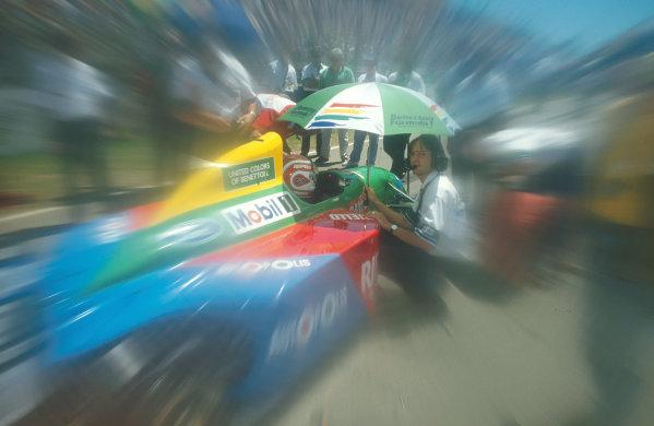 1990 Australian Grand Prix.Adelaide, Australia.2-4 November 1990.Nelson Piquet (Benetton B190 Ford) 1st position.Ref-90 AUS 08.World Copyright - LAT Photographic