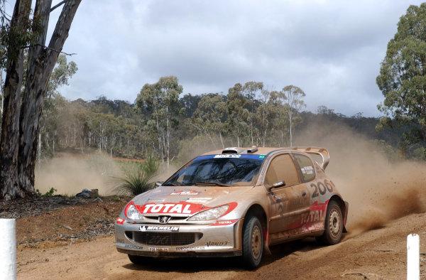 2002 World Rally Championship.Telstra Rally Australia, Perth. October 31st-November 3rd.Harri Rovanpera on stage 11.Photo: Ralph Hardwick/LAT