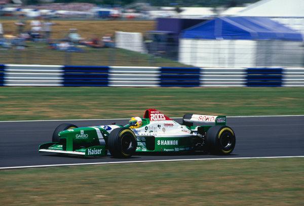 1996 British Grand Prix.Silverstone, England. 12-14 July 1996.Luca Badoer (Forti FG03-96).Ref-96 GB 37.World Copyright - LAT Photographic