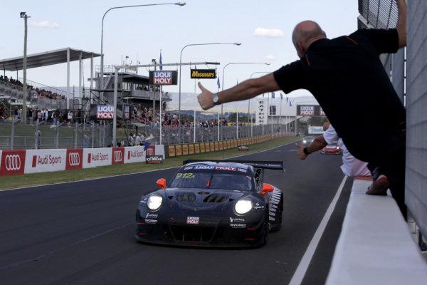 Race winner #912 EBM Porsche 911 GT3-R: Dirk Werner, Dennis Olsen, Matt Campbell.