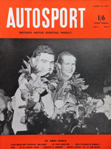 Cover of Autosport magazine, 22nd August 1952