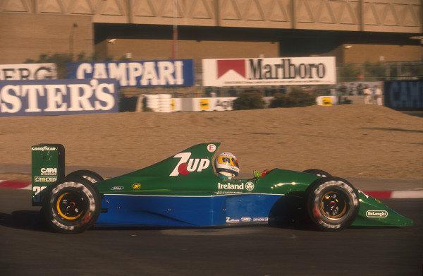 1991 United States Grand Prix.Phoenix, Arizona, U.S A.8-10 March 1991.Bertrand Gachot (Jordan 191 Ford) 10th position. This was the Jordan team's Grand Prix debut.Ref-91 USA 06.World Copyright - LAT Photographic