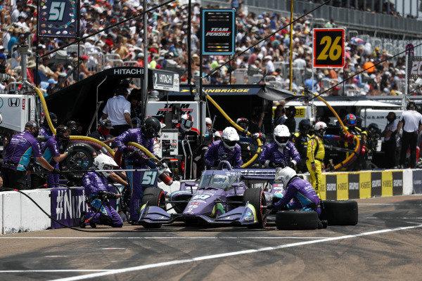 #51: Pit Stop, Romain Grosjean, Dale Coyne Racing with RWR Honda