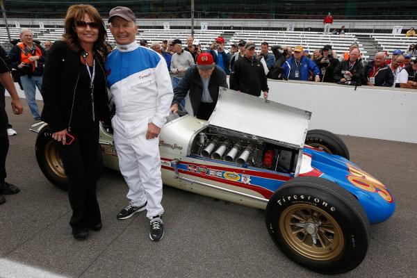 25  May, 2013, Indianapolis, Indiana, USA Sarah Palin and 1963 Indy 500 winner Parnelli Jones © 2013, Michael L. Levitt LAT Photo USA