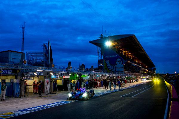 2016 Le Mans 24 Hours. Circuit de la Sarthe, Le Mans, France. Wednesday 15 June 2016. SRT41 By Oak Racing / Morgan LMP2 - Nissan - Frederic Sausset (FRA), Christophe Tinseau (FRA), Jean-Bernard Bouvet (FRA).  World Copyright: Zak Mauger/LAT Photographic ref: Digital Image _79P5069