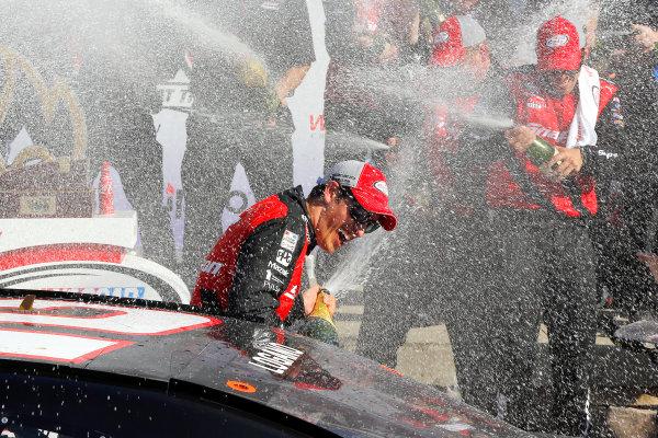 4-6 August, 2016, Watkins Glen, New York USA Joey Logano celebrates in victory lane  ©2016, Russell LaBounty LAT Photo USA