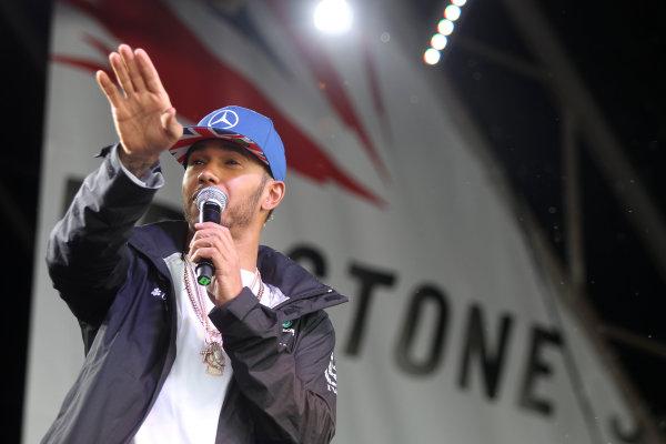 Silverstone, Northamptonshire, UK Sunday 10 July 2016. Lewis Hamilton, Mercedes AMG, at the Grand Prix after party. World Copyright: Jakob Ebrey/LAT Photographic ref: Digital Image Hamilton-09