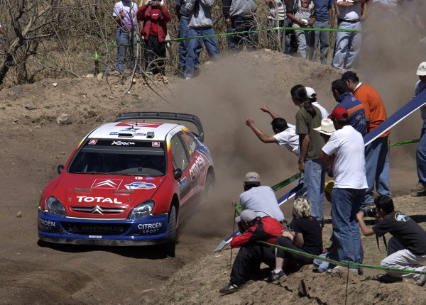 Carlos Sainz (ESP) / Marc Marti (ESP) Citroen Xsara WRC.World Rally Championship, Rd3, Rally Mexico, Leon, Mexico. Day Three. 14 March 2004.DIGITAL IMAGE