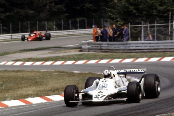 1979 German Grand Prix.  Hockenheim, Germany.  27-29 July 1979.  Alan Jones (Williams FW07 Ford) 1st position. Ref: 79GER16. World Copyright - LAT Photographic