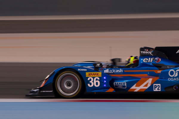2015 FIA World Endurance Championship Bahrain 6-Hours Bahrain International Circuit, Bahrain Saturday 21 November 2015. Nelson Panciatici, Paul Loup Chatin, Tom Dillmann (#36 LMP2 Signatech Alpine Alpine A450B Nissan). World Copyright: Sam Bloxham/LAT Photographic ref: Digital Image _SBL5365
