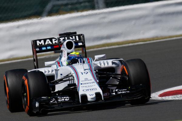 Silverstone Circuit, Northamptonshire, England. Friday 3 July 2015. Felipe Massa, Williams FW37 Mercedes. World Copyright: Alastair Staley/LAT Photographic ref: Digital Image _79P9399