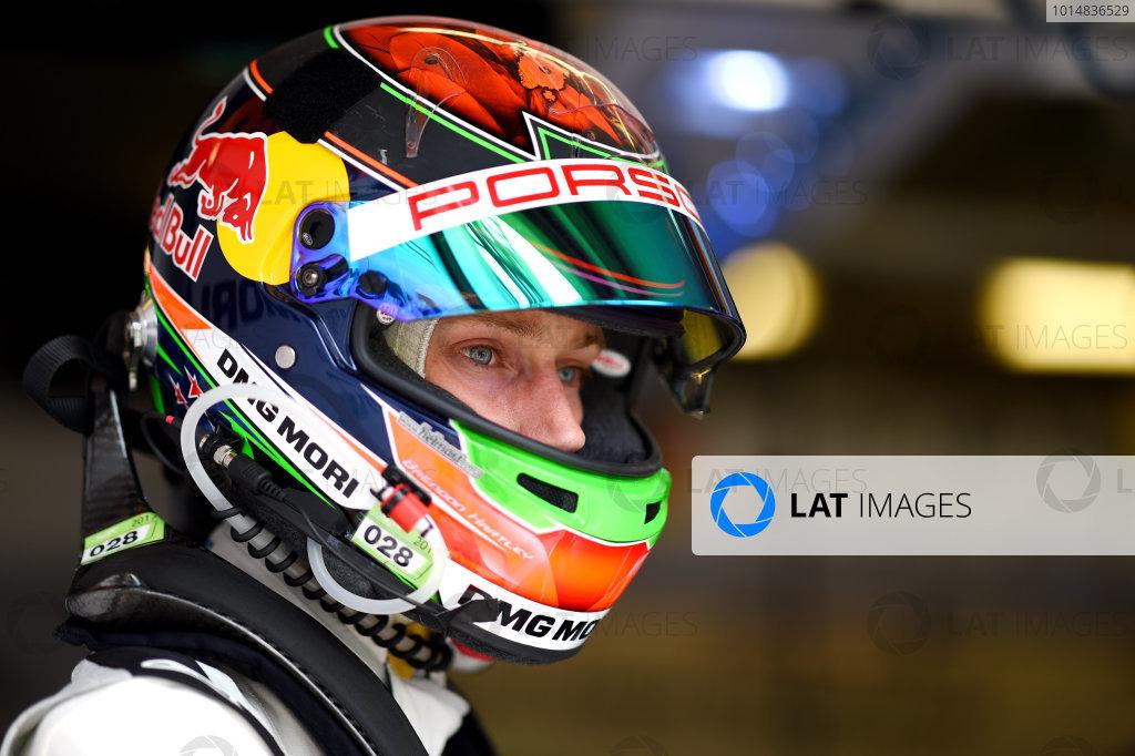 2017 Le Mans 24 Hours test day. Circuit de la Sarthe, Le Mans, France. Sunday 4 June 2017 Brendon Hartley, Porsche Team World Copyright: Rainier Ehrhardt/LAT Images ref: Digital Image 24LM-testday-re-2949