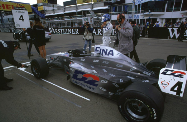 International Formula 3000 Championship Nurburgring, Germany. 19th - 20th May 2000 David Saelens prepares to start his Super Nova from pole position World - Bellanca/LAT Photographic