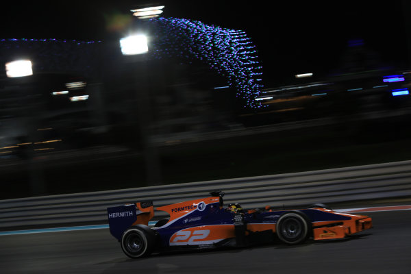 2013 GP2 Series Test 3 Yas Marina Circuit, Abu Dhabi, UAE. Day 3, Thursday 7th November 2013. Daniel Abt (GER, Hilmer Motorsport)  World Copyright: Sam Bloxham/LAT Photographic. ref: Digital Image IMG_5905