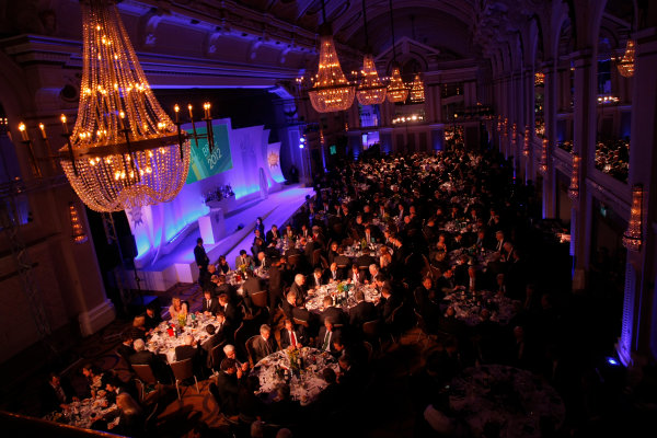 Grand Connaught Rooms, London, England. 3rd December 2012. A view of the stage and guests. World Copyright: Jakob Ebrey/LAT Photographic ref: Digital Image 062