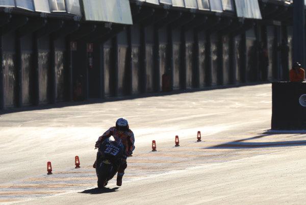 2017 MotoGP Championship - Valencia test, Spain. Tuesday 14 November 2017 Marc Marquez, Repsol Honda Team World Copyright: Gold and Goose / LAT Images ref: Digital Image MotoGP2017-ValenciaTest-Day1-1331