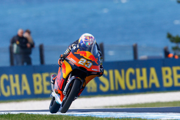 2017 Moto3 Championship - Round 16 Phillip Island, Australia. Friday 20 October 2017 Niccolo Antonelli, Red Bull KTM Ajo World Copyright: Gold and Goose / LAT Images ref: Digital Image 23284