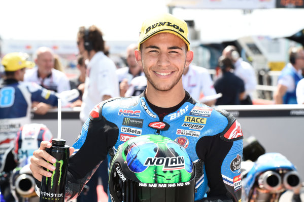 2017 Moto3 Championship - Round 13 Misano, Italy. Saturday 9 September 2017 Polesitter Enea Bastianini, Estrella Galicia 0,0 World Copyright: Gold and Goose / LAT Images ref: Digital Image 691118
