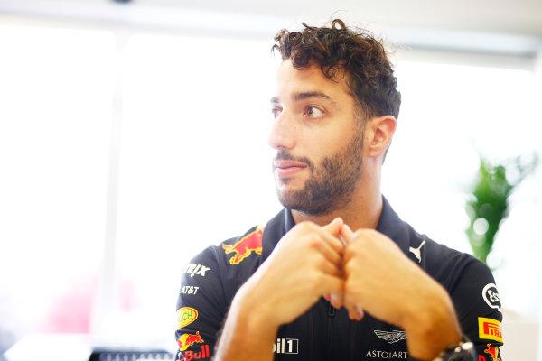 Baku City Circuit, Baku, Azerbaijan. Thursday 22 June 2017. Daniel Ricciardo, Red Bull Racing. World Copyright: Andrew Hone/LAT Images ref: Digital Image _ONZ5826