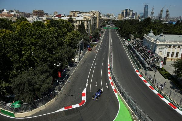 Baku City Circuit, Baku, Azerbaijan. Friday 23 June 2017. Pascal Wehrlein, Sauber C36-Ferrari. World Copyright: Charles Coates/LAT Images ref: Digital Image AX0W5354
