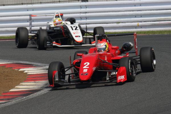 2017 Japanese Formula 3 Championship. Fuji, Japan. 8th - 9th July 2017. Rd 12 & 13. Rd13 3rd position Hiroki Otsu ( #2 TODA RACING ) action World Copyright: Yasushi Ishihara / LAT Images. Ref: 2017JF3_Rd12&13_012