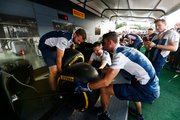 Red Bull Ring, Spielberg, Austria. Saturday 08 July 2017. The Pit Stop Challenge in the F1 fan village. World Copyright: Glenn Dunbar/LAT Images ref: Digital Image _X4I7987