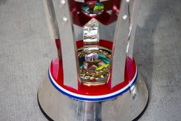 Circuit of the Americas, Austin Texas, USA. Sunday 23 October 2016. Details of the winners trophy. World Copyright:Andrew Hone/LAT Photographic ref: Digital Image _ONY8982