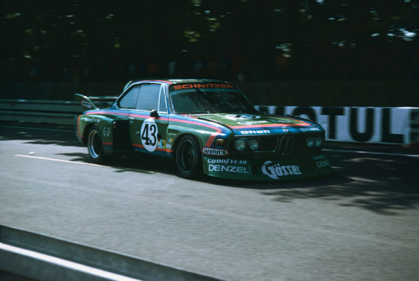 1976 Le Mans 24 hours. Le Mans, France. 12th  - 13th June 1976. Dieter Quester / Albrecht Krebs / Alain Peltier (BMW 3.0 CSL), retired, action. World Copyright: LAT Photographic.