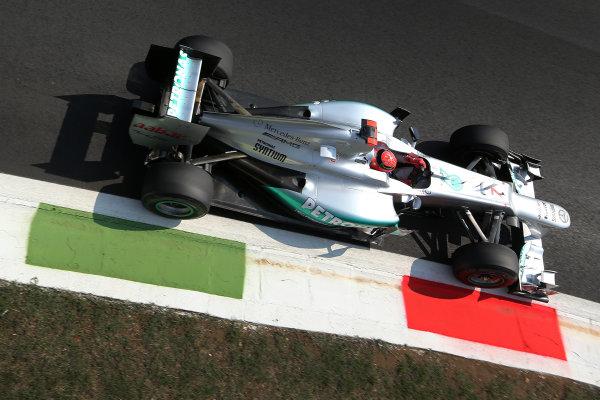 Autodromo Nazionale di Monza, Monza, Italy. 7th September 2012. Michael Schumacher, Mercedes F1 W03.  World Copyright: Steve Etherington/LAT Photographic ref: Digital Image SNE14605 copy