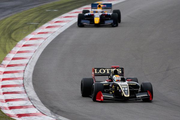 NURBURG (GER) JUN 29- JUL 1 2012 - Third round of the World series by Renault 2012 at the Nurburgring. Marco Sorensen #12 Lotus. Action. © 2012 Diederik van der Laan / Dutch Photo Agency / LAT Photographic