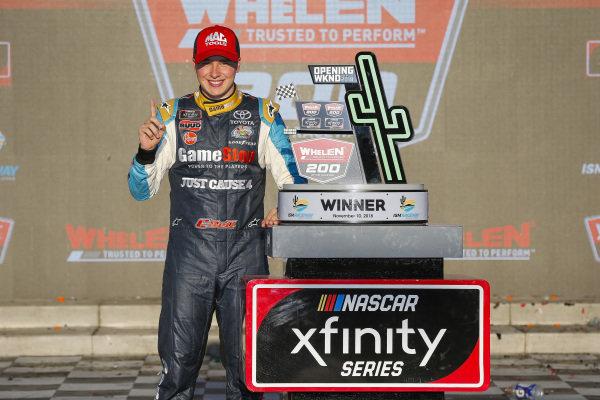#20: Christopher Bell, Joe Gibbs Racing, Toyota Camry GameStop Just Cause 4 celebrates