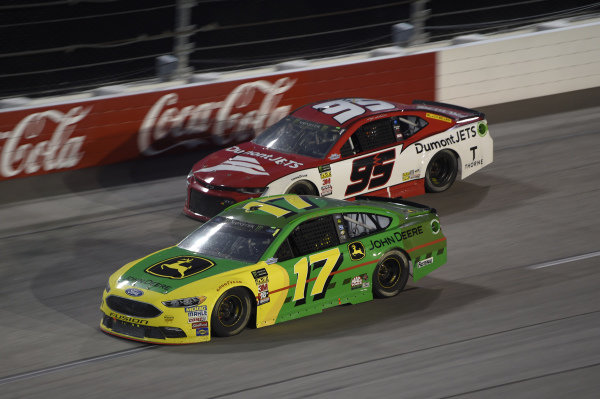 Bojangles' Southern 500 Darlington Raceway, Darlington, SC USA #17: Ricky Stenhouse Jr., Roush Fenway Racing, Ford Fusion John Deere, #95: Kasey Kahne, Leavine Family Racing, Chevrolet Camaro Dumont JETS