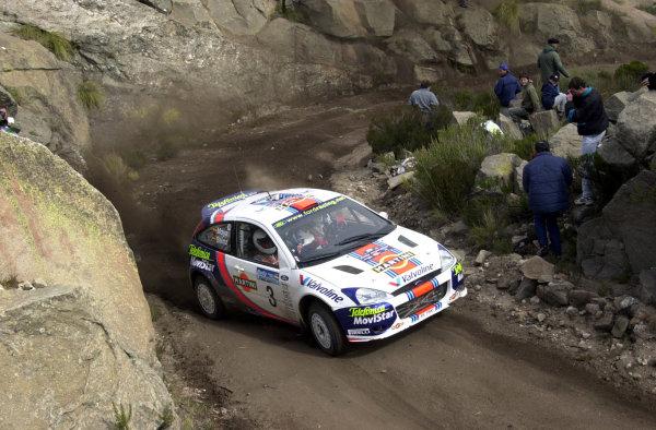 2001 World Rally Championship. ArgentinaMay 3rd-6th, 2001Carlos Sainz on stage 20.Photo: Ralph Hardwick/LAT