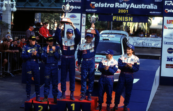 2001 World Rally ChampionshipRally Australia, WRC. 1st - 4th November.Marcus Gronholm.World Copyright - McKlein / LAT PhotographicRef: 35mm Image A07