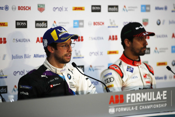 Alexander Sims (GBR) BMW I Andretti Motorsports, and Lucas Di Grassi (BRA), Audi Sport ABT Schaeffler, in the press conference
